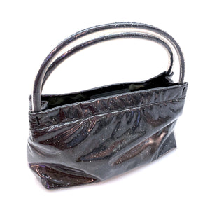 Miu Miu Metallic Grey Plastic Satchel