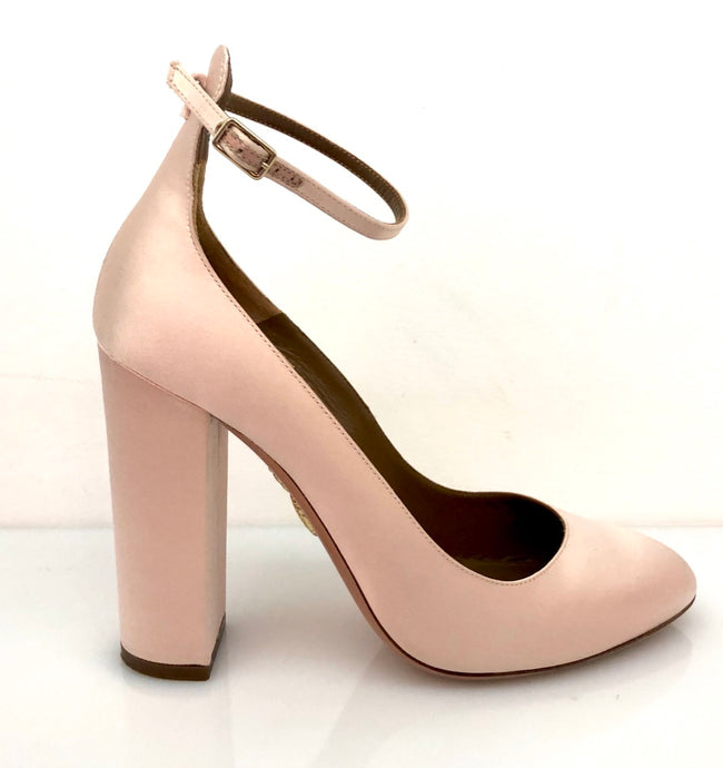 AQUAZZURA, Satin Alix 105 Pump