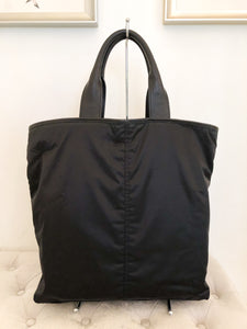 SAINT LAURENT, Black Nylon Y Shopper Tote