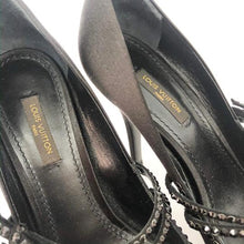 Load image into Gallery viewer, Louis Vuitton Black Satin Mary Jane Pumps
