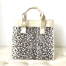 Load image into Gallery viewer, Nancy Gonzalez Snow Leopard Crocodile White Calf Hair Tote