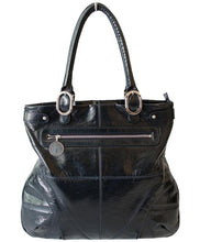 Load image into Gallery viewer, Stella McCartney Patent Shopper Blue Faux Leather Tote