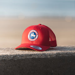 "Casquette Trucker ""Cherwood Official Team"" - Rouge"