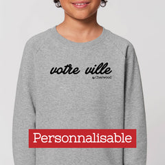 Sweat enfant gris personnalisable