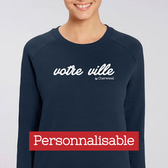 "Sweat Femme navy ""Personnalisable"""