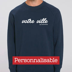 "Sweat Homme navy ""Personnalisable"""