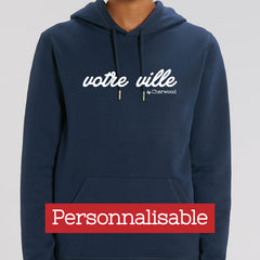 "Hoodie Femme navy ""Personnalisable"""