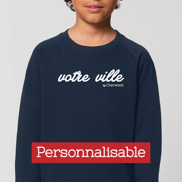 Sweat enfant navy personnalisable