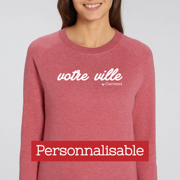 "Sweat Femme rose ""Personnalisable"""