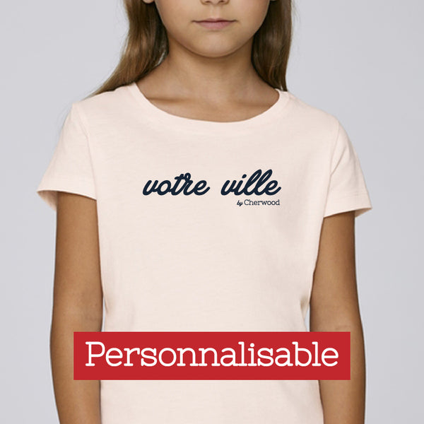 T-shirt Fille rose - Personnalisable