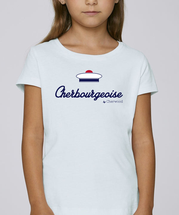 "T-shirt fille ""Cherbourgeoise Bachi"""
