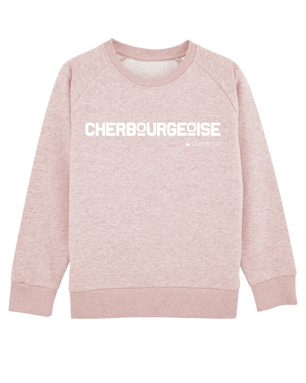 Sweat fille Cherbourgeoise Rose Chiné