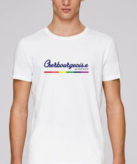 "T-shirt mixte ""Cherbourgeois.e Rainbow"""