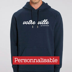 Hoodie homme navy personnalisable