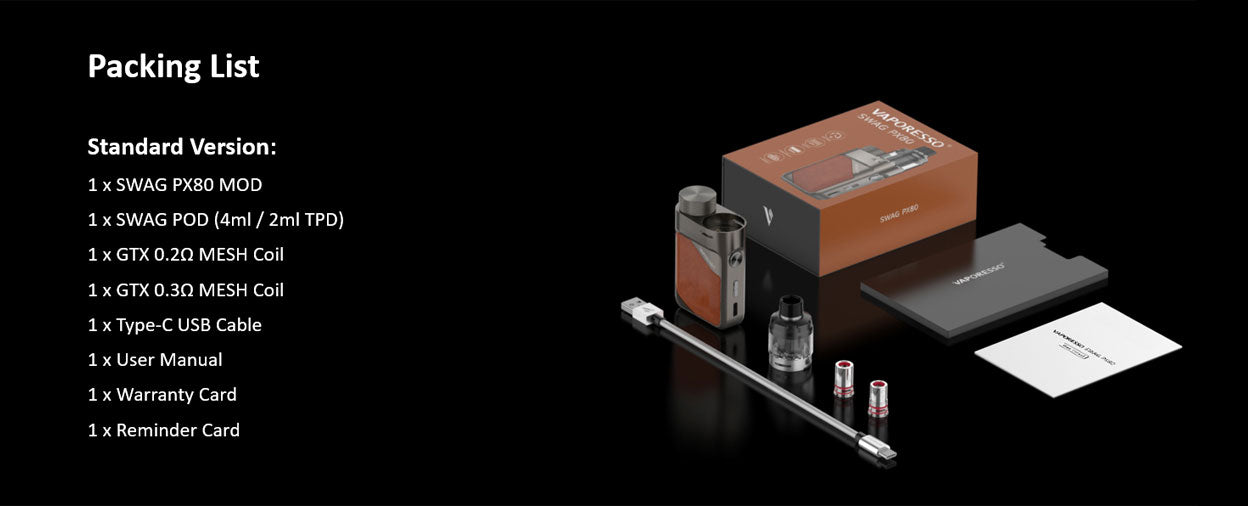 Vaporesso Swag PX80 Pod Kit   Vapelink Australia   Mouth To Lung Kit   Direct To Lung Kit