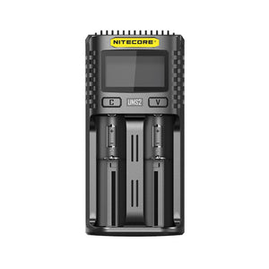Nitecore UMS2 2-slot Quick Chargers with LCD Screen