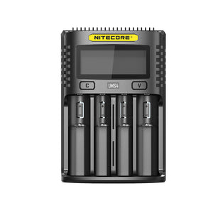 Nitecore UMS4 4-slot Quick Chargers with LCD Screen