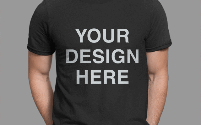 Custom DTG Black Unisex T-Shirt