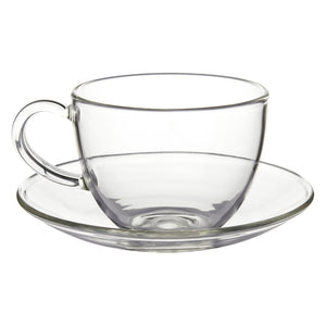 Glass Cup & Saucer - Ashbourne - 250ml