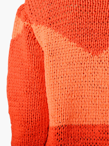 Vintage Pierre Cardin Two Tone Woven Orange Sweater