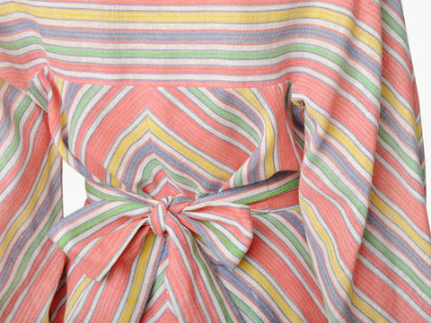 Vintage Candy Chevron Stripe Mini Dress