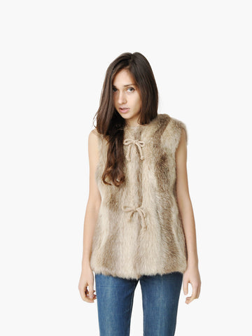 Vintage Jacques Saint Laurent Faux Fur Vest