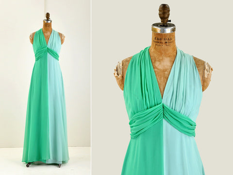 Vintage Two Tone Elinor Gay Gown