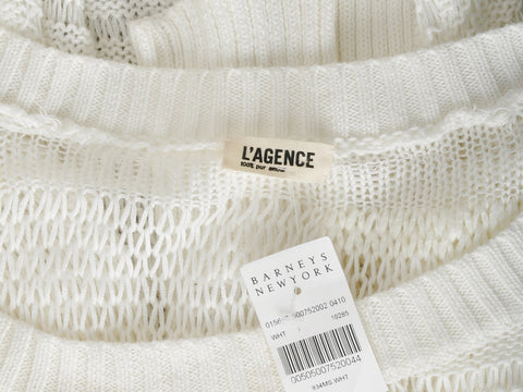 L'agence Abstract Open Knit Sweater