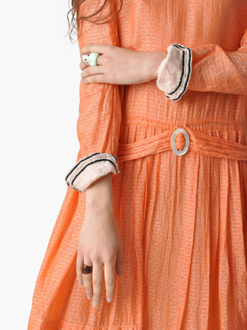 Vintage 1920s Peach Flapper Dress