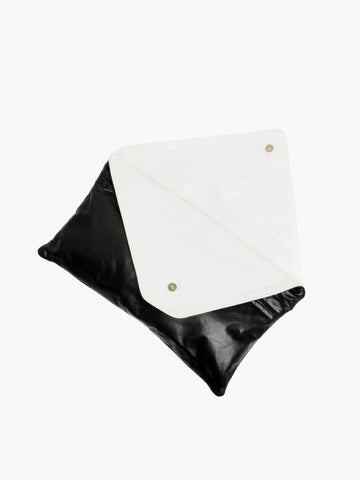 Vintage Black & White Leather Clutch