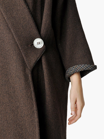Vintage Coffee Brown Wool Coat