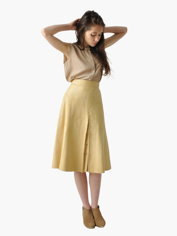 Vintage Camel Deerskin Leather Skirt
