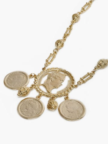 Vintage 24K Gold Coin Necklace