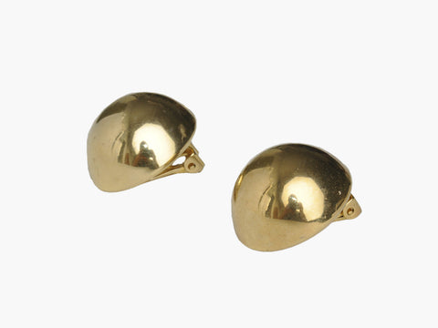 Vintage Gold Plated Domed Clip Ons