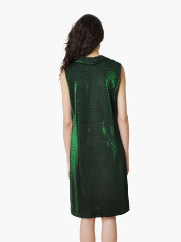 Vintage Emerald Green Metallic Dress