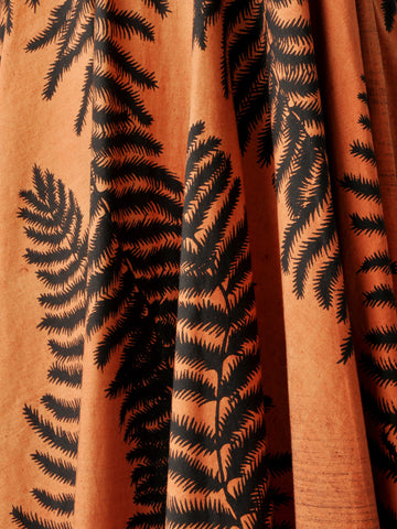 Vintage Hand Painted Mexican Fern Skirt