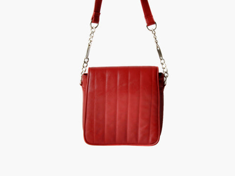 Vintage Red Quilted Leather Purse