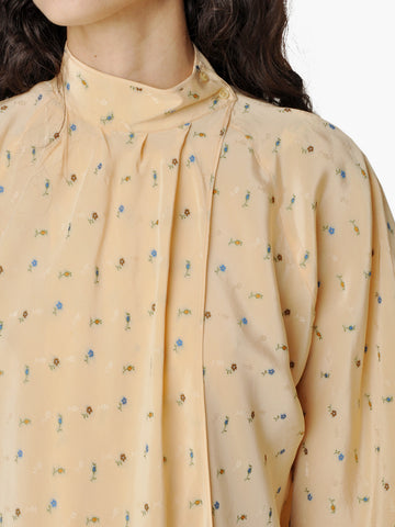 Vintage Gianni Versace Spring Floral Print Blouse