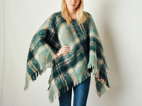 Vintage Abercrombie & Fitch Plaid Cape