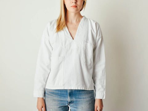 Vintage White Workwear Shirt