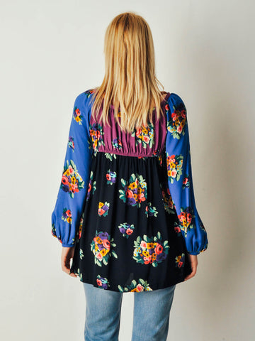 Vintage Betsey Johnson Floral Blouse
