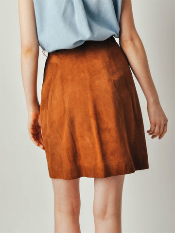 Vintage 1960s Abercrombie & Fitch Suede Skirt
