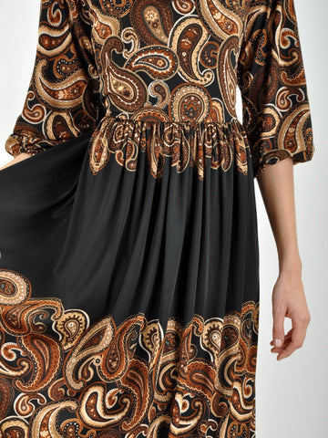 Vintage 1960s ADELE SIMPSON Paisley Dress