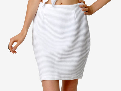 Vintage Andrea Jovine White Mini Skirt