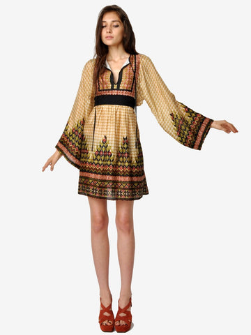 Betsey Johnson Silk India Print Dress