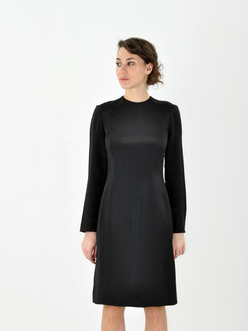 Bill Hamilton Black Silk Dress