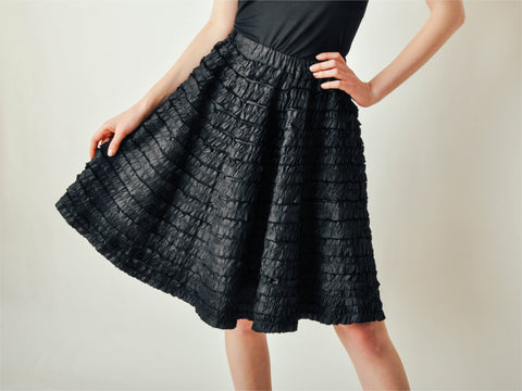 Vintage Black Ribbon Full Skirt