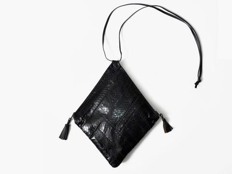 Vintage Black Snakeskin Purse