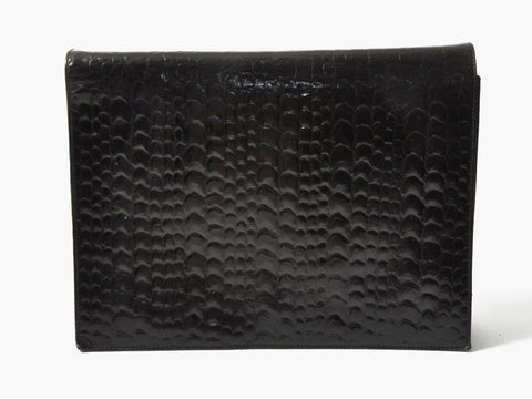Vintage Black Alligator Clutch