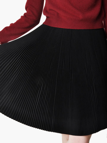 Vintage Black Accordion Pleat Skirt